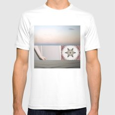Where are you going because Mens Fitted Tee MEDIUM White