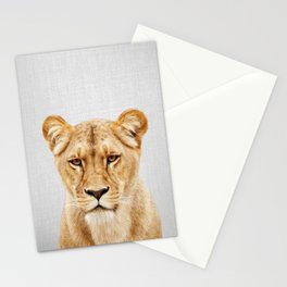Lioness - Colorful Stationery Cards