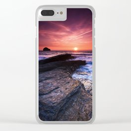 The Sun Goes Down Clear iPhone Case