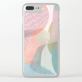 Shapes and Layers no.16 - Watercolor and pastel abstract painting Clear iPhone Case