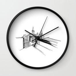 Vibrant city 6 Wall Clock