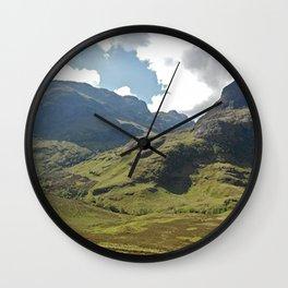 Scotland Hills Wall Clock