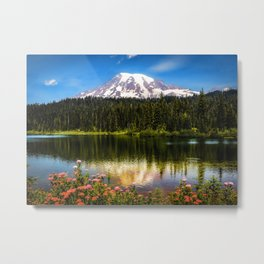 Mt. Rainier, Reflection Lake Metal Print