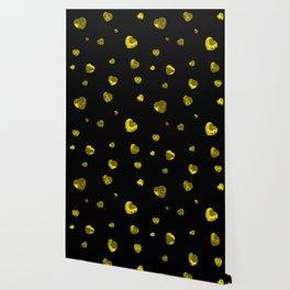 Chaotic Hearts Yellow Dapple Wallpaper