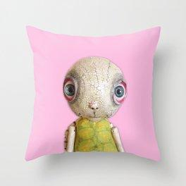 Sheldon The Turtle - Pink Throw Pillow