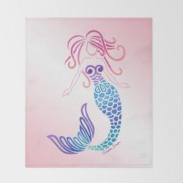 Tribal Mermaid Throw Blanket