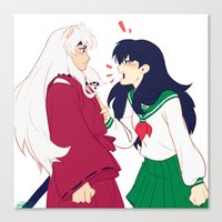 inuyasha Canvas Prints featuring SIT BOY by viria