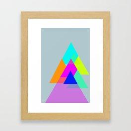 Triangles - neon color scheme series no. 1 Framed Art Print