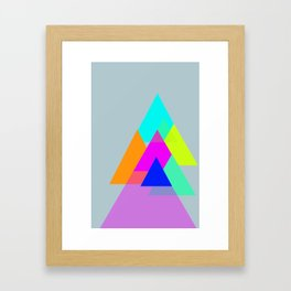 Triangles - neon color scheme series no. 1 Framed Art Print