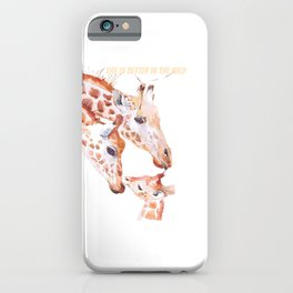 giraffe for people who like outdoors and wild animals  iPhone Case