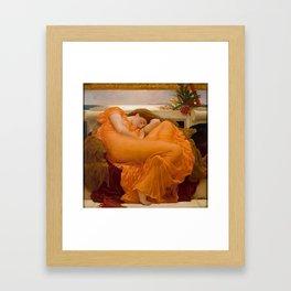 Flaming June - Frederic Lord Leighton Framed Art Print
