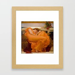 Flaming June - Frederic Lord Leighton Framed Art Print