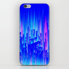 Neon Rain - A Digital Abstract iPhone Skin