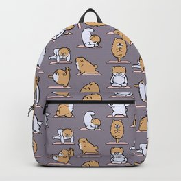 Pomeranian yoga Backpack
