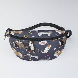 Colorful Dog Pattern Fanny Pack
