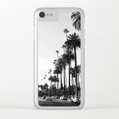 Los Angeles Black and White Clear iPhone Case