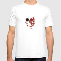 skull #06 SMALL White Mens Fitted Tee