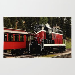 Black Hills Diesel Locmotive # 63 Abstract Rug