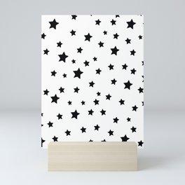 Black and White Stars Mini Art Print