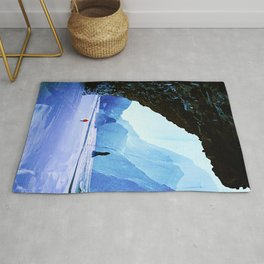 Snowy and Icy Landscape  Rug