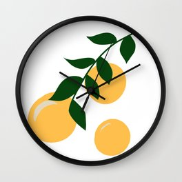 Clementine Branch Wall Clock