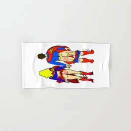 Superhero Butts Love 1 - Super Birds Hand & Bath Towel