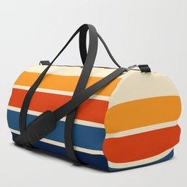 Classic Retro Stripes Duffle Bag