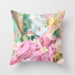 Marie Antoinette Garden Party Throw Pillow