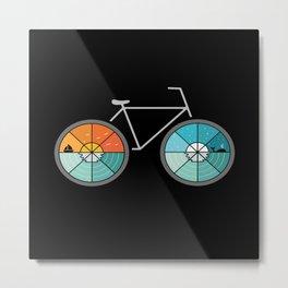 Bicycle Landscape Metal Print