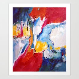 Come Down Isaiah 64 Christian Abstract Art Print
