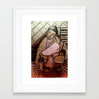 leah flores Framed Art Prints featuring Leah by mvtemba