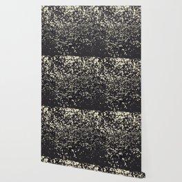 Sparkling BLUSH YELLOW BLACK Lady Glitter #1 #decor #art #society6 Wallpaper