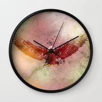 eagle Wall Clocks featuring Eagle by ron ashkenazi