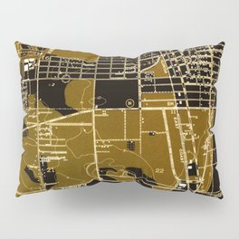 Fort Lauderdale old map year 1949, united states old maps Pillow Sham