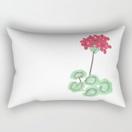 Wembley Gem Red Flower Rectangular Pillow