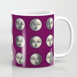 moon phases on dark purple Coffee Mug