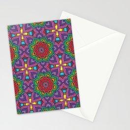 Rainbow Flowers Stationery Cards