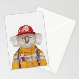 Koala Firefighter Stationery Cards