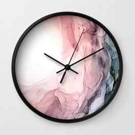 Blush and Blue Dream 1: Original painting Wall Clock
