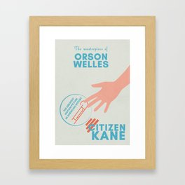 Citizen Kane, minimal movie poster, Orson Welles film, hollywood masterpiece, classic cinema Framed Art Print