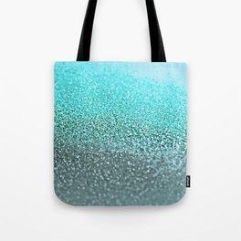 TEAL GLITTER Tote Bag