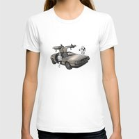 pigs T-shirts featuring Lost, searching for the DeathStarr _ 2 Stormtrooopers in a DeLorean  by Vin Zzep