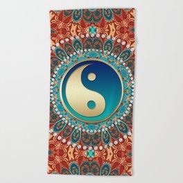 Bohemian Batik Yin Yang Beach Towel