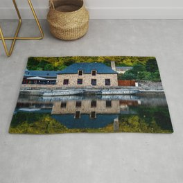 The harbour of Dinan in Brittany Rug