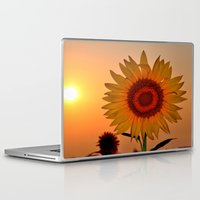 sunflower Laptop & iPad Skins featuring sunflower by  Agostino Lo Coco