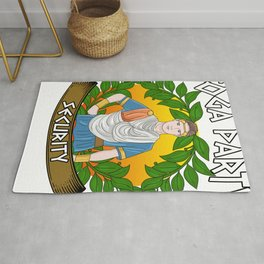 Toga Party Security Guard Funny Fraternity Party Rug