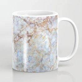 Rich Orange and Blue Marble Coffee Mug