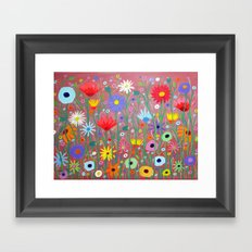Flowers-Abstracts  Framed Art Print