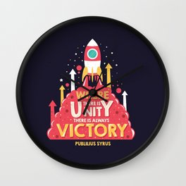 Unity is victory Wall Clock