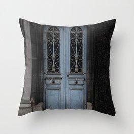 Gothic Door Cemetery Paris Throw Pillow